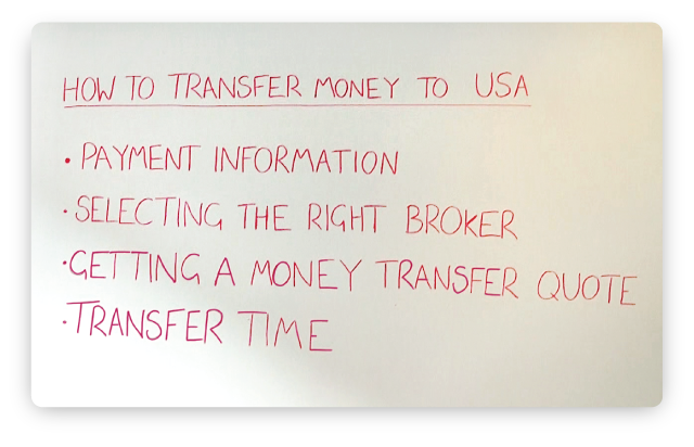 How To Transfer Money Usa Whiteboard