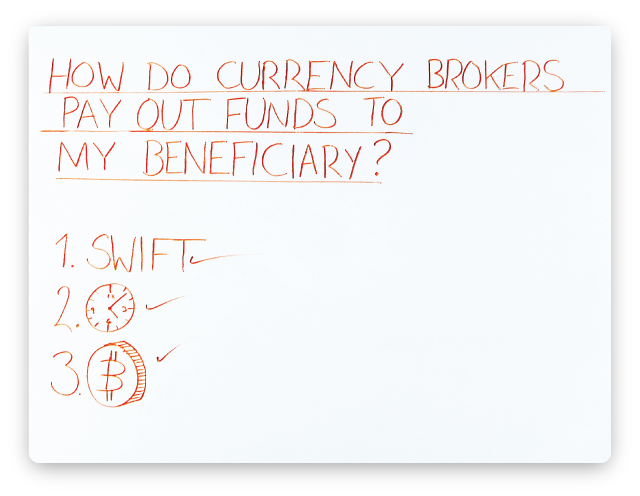 how-do-currency-brokers-pay-out-funds-to-my-beneficiary