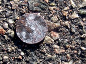 Money on the pavement