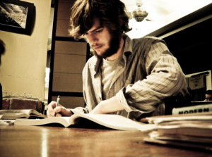person studying