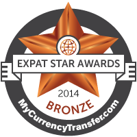 Bronze Winner - MyCurrencyTransfer.com's Expat Stars Awards 2014