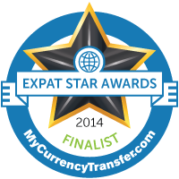 Finalist - MyCurrencyTransfer.com's Expat Stars Awards 2014