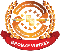 Bronze Winner - MyCurrencyTransfer.com's Expat Stars Awards 2013
