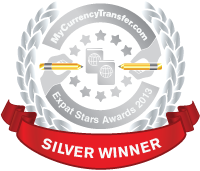 Silver Winner - MyCurrencyTransfer.com's Expat Stars Awards 2013